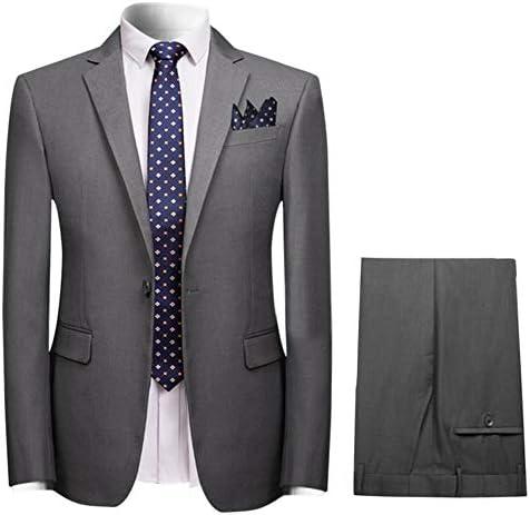 CEEN メンズ ツーピース スーツ ボタン 上下セット スリム カジュアル ファッション スタイリッシ 紳士 フォーマル ビジネス 結婚式/パーティー/入学式/就職 大きいサイズ