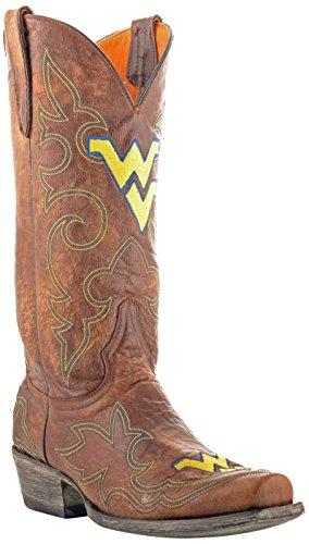 - Gameday Boots NCAA West Virginia Mountaineers Men's, Brass, 9.5 D (M) US