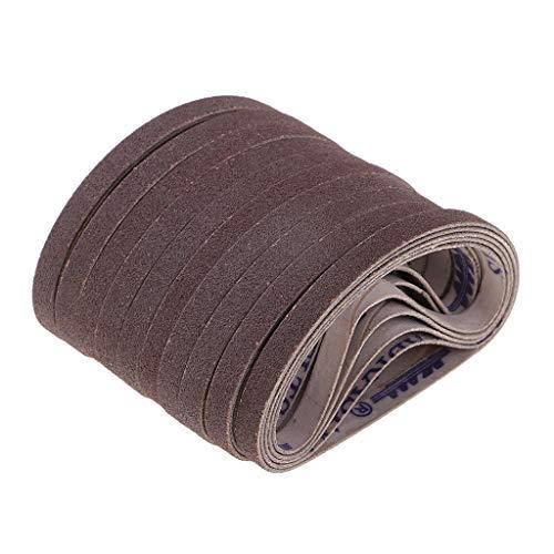 Baoblaze 50pcs Bandas de Lija 220x6mm Lijadora Afiladora - D