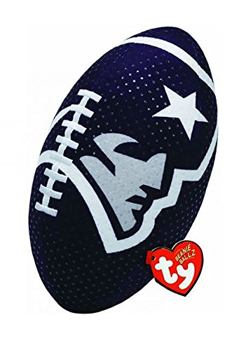 Ty Beanie Ballz NFL RZ New England PatriotsFootball Plush ()