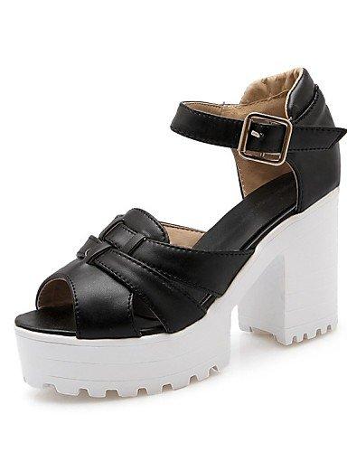 LFNLYX Zapatos de mujer-Tacón Robusto-Tacones / Comfort / Innovador / Botas a la Moda / Zapatos y Bolsos a Juego / Zapatillas-Sandalias / White