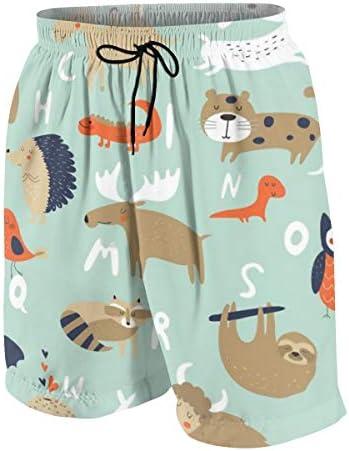 キッズ ビーチパンツ 漫画 かわいい 動物柄 サーフパンツ 海パン 水着 海水パンツ ショートパンツ サーフトランクス スポーツパンツ ジュニア 半ズボン ファッション 人気 おしゃれ 子供 青少年 ボーイズ 水陸両用