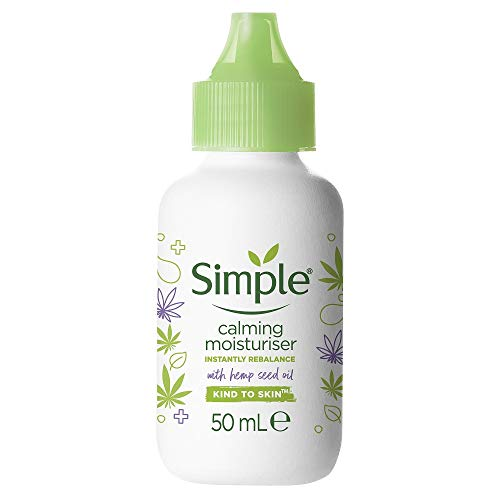 Simple Calming Moisturiser with Organic Hemp Seed Oil Skin Cream for Calm and Hydrated Skin 50 ml