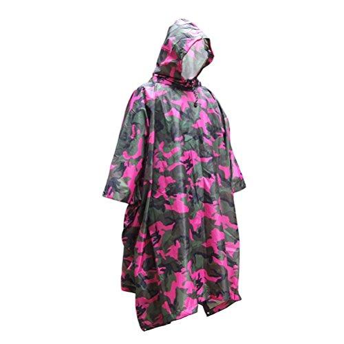 森林家事ロシアKayiyasu ポンチョ 迷彩 レインコート 雨具 フード付き レインウェア 防水 男女兼用 雨合羽 梅雨対策 ミリタリー アウトドア 021-lghw-mh-001(フリーサイズ 写真より)