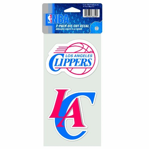 NBA Los Angeles Clippers 4-by-8 Die Cut Decal