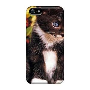 New Style AbbyRoseBabiak Hard Cases Covers For Iphone 5/5s- 2 Cute Black White Kittens
