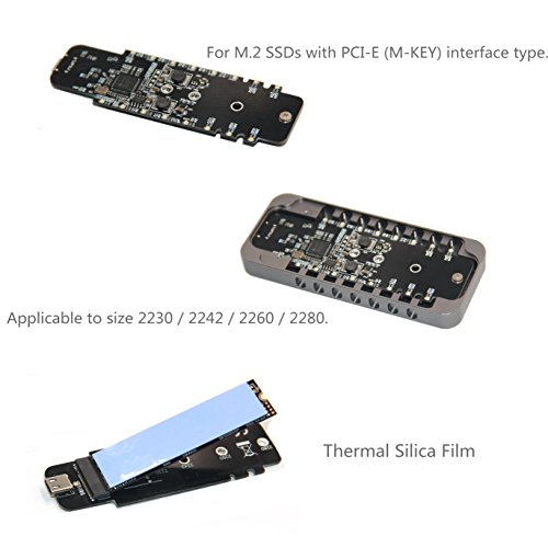 USB3.1 Type-c to M.2 Pcie NVME Protocol M-Key Interface High Speed SSD HDD Enclosure Aluminum Design Support 2230 2242 2260 2280 (A to C C to C Gray) by Qphone12 (Image #8)