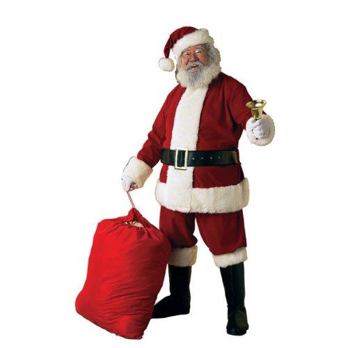 Rubie's Deluxe Ultra Velvet Santa Suit, Red/White, (Santa Clause Suits)