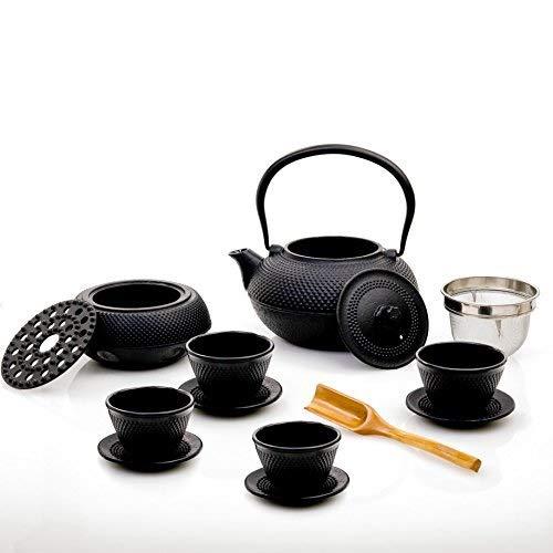 Lumaland Servicio de té 12 Piezas: Tetera de 1,4 litros, cucharilla dosificadora