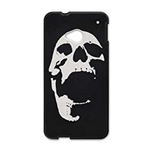 HTC One M7 Cell Phone Case Black_Screaming Skull Dnnnf