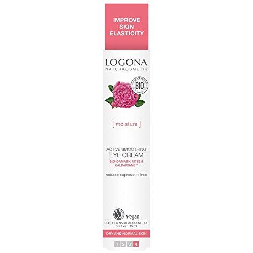 Logona Rose - Logona Active Smoothing Eye Cream, 0.5 Ounce