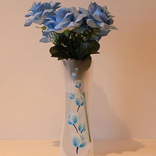 XIDAJE 10Pcs CHEAP Foldable Reusable Plastic Flower (Cheap Flower Vase)