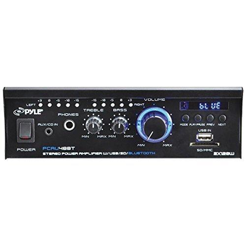 PYLE HOME PCAU48BT 120-Watt Mini Blue Series Bluetooth(R) Stereo Power Amp by Pyle