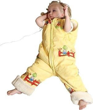 Babies & Kids - Öko-Schlafoverall Spielplatz gelb Schurwollplüsch, Größe:80 cm (1-2 Jahre) 10102-001-00098-01