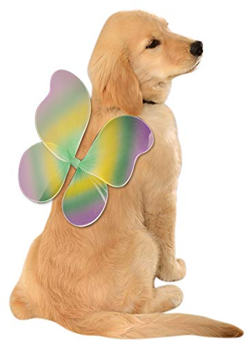 Rubie's Mardi Gras Fairy Wings for Your Pet, Small/Medium, Multicolor
