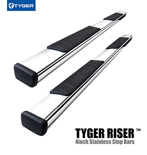 TYGER RISER For 09-16 Dodge Ram 1500 Crew Cab 4inch Stainless Steel Side Step Nerf Bars Running Boards (Nerf Bars For 2014 Ram Crew Cab compare prices)