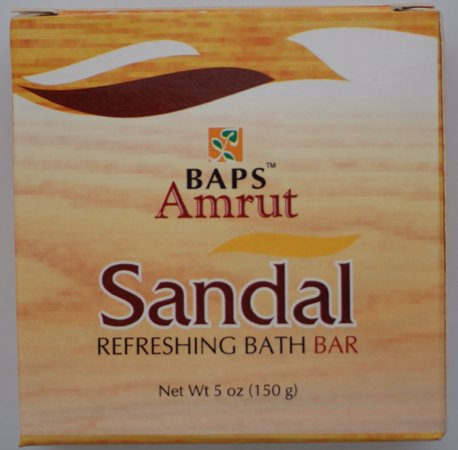 Sandalwood and Turmeric Ayurvedic Herbal Soap bar. Helps Dry Skin, Acne, Controls Facial Hair, Anti Aging, Anti Bacterial
