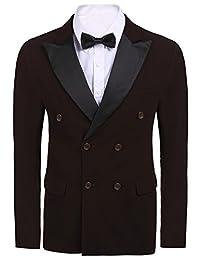 COOFANDY Men's Slim Fit Casual 1 Button Blazer Jacket