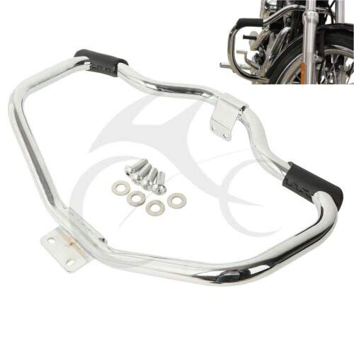 DAVITU US Warehouse Covers & Ornamental Mouldings - Motorcycle 1.25'' Front Mustache Highway Engine Guard Crash Bar for Harley HD Sportster XL 1200 883 04-18 Iron 883 09-18 48 XL - (Color: Chrome)