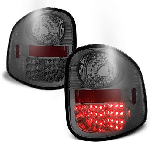 ([Lumiled LED] For Ford 01-03 F150 F-150 Pickup Flareside Model Smoked Tail Lights Brake Lamps Driver+Passenger Side)