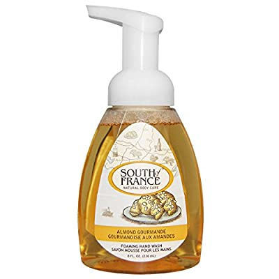 South of France Foaming Hand Soap Almond Gourmande with Shea Butter and Palm Oil, 6 fl. oz. (Pack of 2)