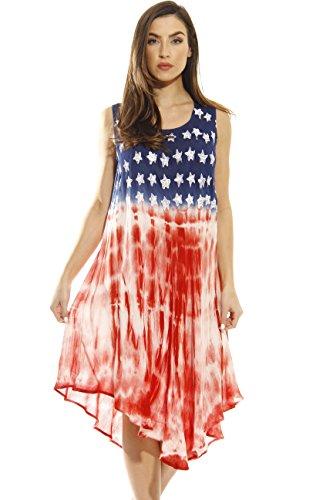 Riviera Sun 21511-RWB-L American Flag Dress/USA Summer Dresses by Riviera Sun