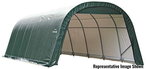 Shelterlogic Outdoor Round Garage Boat/Car Green 13 x 10 x 28-foot Storage Shed