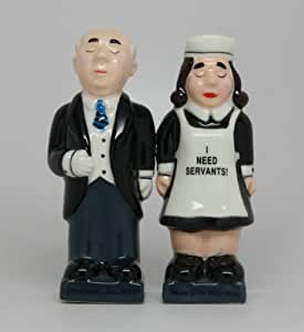 ATTRACTIVES SALT AND PEPPER SHAKER - BUTLER AND MAID