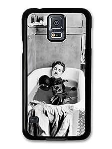 AMAF ? Accessories Charlie Chaplin Having Bath Black & White case for Samsung Galaxy S5