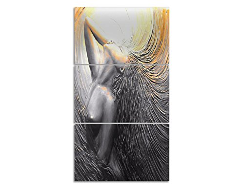 Sexy Picture (Painting on Canvas 3D Relief Nude Girl Sexy Lady Pictures Abstract Artwork Contemporary Fine Wall Art for Living Room Posters and Print Home Decro Giclee, Framed Stretched Ready to Hang(20''Wx42''H))