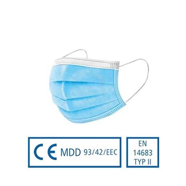 50-Stck-Medizinische-Einwegmaske-Mund-und-Nasenschutz-Typ-II-Deutscher-Hersteller-in-Blau