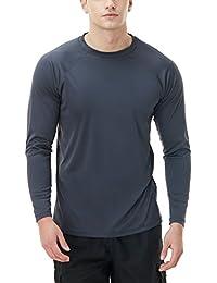 2f919c77e8 Men's UPF 50+Swim Shirt Swim Long Sleeve Tee Rashguard Top