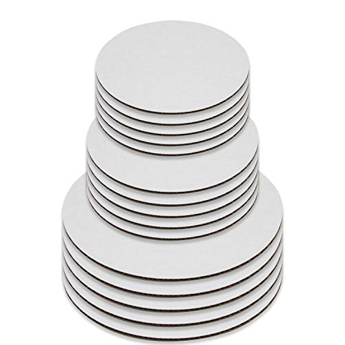 - Upper Midland Products Cake Boards - Set of 15 White Cake circle bases - 6 inches, 8 inches, and 10 inches, 5 of each