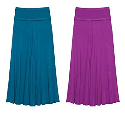 KIDPIK 3-Pack Pencil Skirts - Knee Length Skirt for Girls 4 Years & Up - Comfy Modest Clothing - 3 Colors/Set...