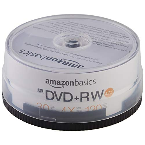 AmazonBasics 4.7GB 4X DVD+RW - 30-Pack