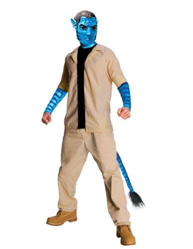 [Avatar Jake Sully Costume And Mask, Blue, Standard] (Avatar Costumes Men)