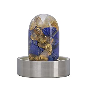 VitaJuwel Gemwater Infused Glass Bottle with Crystals Gemstone (Inspiration)