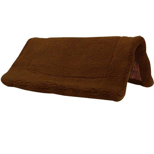 Intrepid International Western Fleece Pad with Non Slip Bottom, Brown (Intrepid International Fleece)