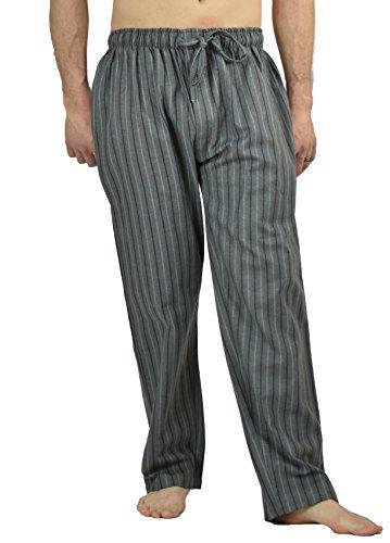 Up2date Fashion Men's Flannel Lounge/Sleep Pants, 100% Cotton Flannel (Large, Metallic (Band Pajama)