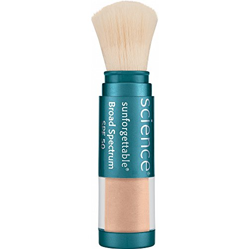 Colorescience Sunforgettable Mineral SPF 50 Sunscreen Brush, Medium, 0.21 oz.