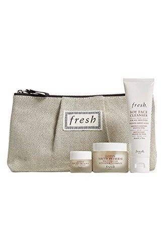 Fresh Lotus Lovers Skin Care Collection Lotus Set/Kit Eye, Cream, Soy Cleanser