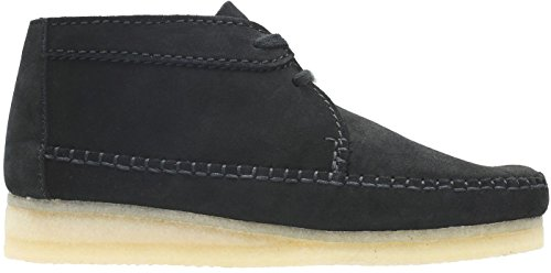Womens Low Weaver Suede Boot Clarks Boot Black vd7twqvfx