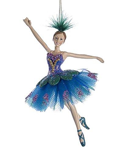 Kurt Adler Peacock Ballerina Ornament - C