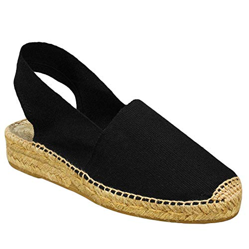 Womens Peep Toe Espadrilles Walking Flat Sandals Slip On Slingback Flip Flops Casual Shoes