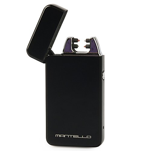 Mantello USB Rechargeable Windproof Dual Arc Lighter Matte Black