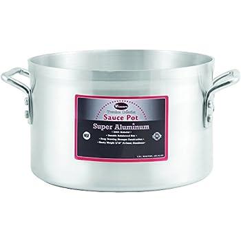 Winco USA Super Aluminum Sauce Pot, Heavy Weight, 20 Quart, Aluminum