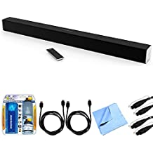 Vizio SB3830-D0 SmartCast 38' 3.0 Sound Bar System w/ Essential Accessory Bundle includes Sound Bar, 2 x 6' Optical Toslink OD Audio Cables, 2 x 6' HDMI Cables, Cleaning Kit and Microfiber Cloth