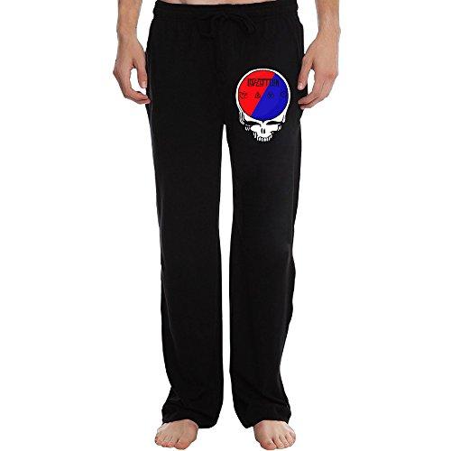 PTR Men's Led Rck Band Zeppelin Workout Pants Color Black Size XXL