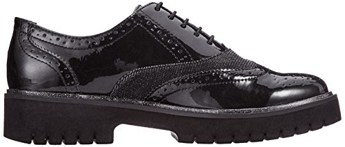 098 Scarpe Tamaris Oxford 23706 Black Nero Donna Stringate Comb Bazwqad