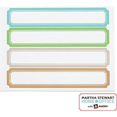 Martha Stewart Home OfficeTM with AveryTM File Folder Labels - Blue, Green, Gray, Cappuccino, 120/Pack ()